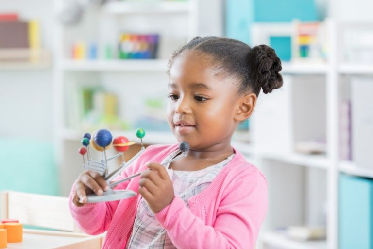 """Helps children to appreciate the universe and the lives in it, hence it is referred to as a """"cosmic education"""". The children will understand the changes in physical conditions, such as climate, terrain and soil composition."""